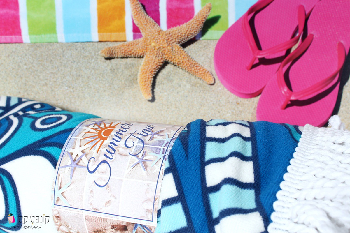 מגבת חוף ממותגת | קונפטיקס